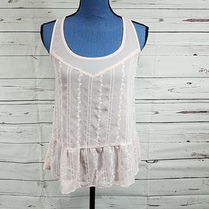 NWT Dressy Pink Tank Top by Love on a Hanger